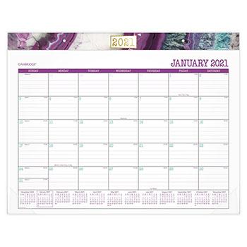 "Agate Desk Pad, 22"" x 17"", Purple"