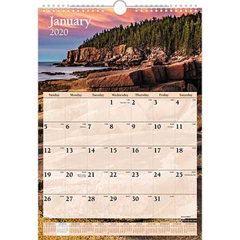 Scenic Monthly Wall Calendar, 12 x 17, 2020