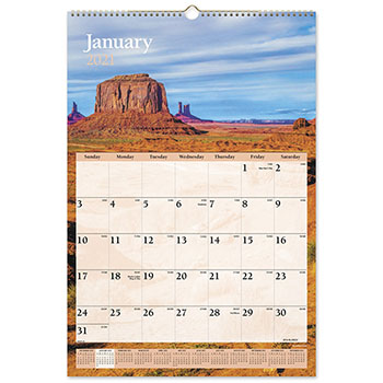 """AT-A-GLANCE® Scenic Monthly Wall Calendar, 15 1/2"""" x 22 3/4"""", 2021"""