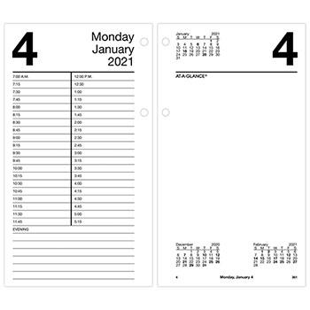 "AT-A-GLANCE® Large Desk Calendar Refill, 4 1/2"" x 8"", White, 2022"