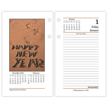 "AT-A-GLANCE® Photographic Desk Calendar Refill, 3 1/2"" x 6"", 2021"