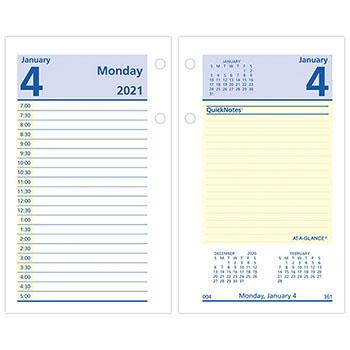 """AT-A-GLANCE® QuickNotes Desk Calendar Refill, 3 1/2"""" x 6"""", 2021"""