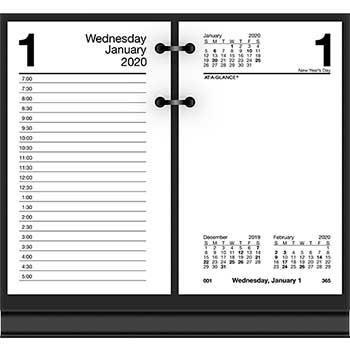 Desk Calendar Refill, 3 1/2 x 6, White, 2020