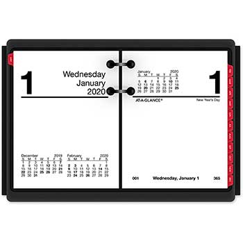 "AT-A-GLANCE® Compact Desk Calendar Refill, 3"" x 3 3/4"", White, 2021"