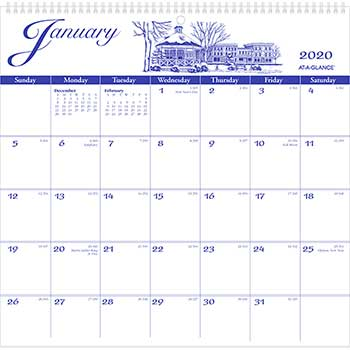 """AT-A-GLANCE® 12-Month Illustrator's Edition Wall Calendar, 12"""" x 11 3/4"""", Illustrations, 2021"""