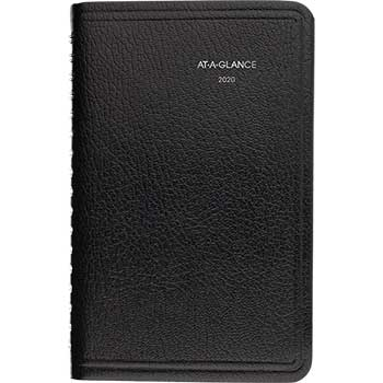 "AT-A-GLANCE® DayMinder® Weekly Pocket Appt. Book, Telephone/Address Section, 3 3/4"" x 6"", Black, 2021"
