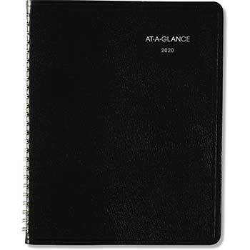 """AT-A-GLANCE® DayMinder® Open-Schedule Weekly Appointment Book, 6 7/8"""" x 8 3/4"""", Black, 2022"""