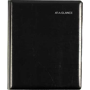 "AT-A-GLANCE® DayMinder® Executive Weekly/Monthly Planner, 6 7/8"" x 8 3/4"", Black, 2021"