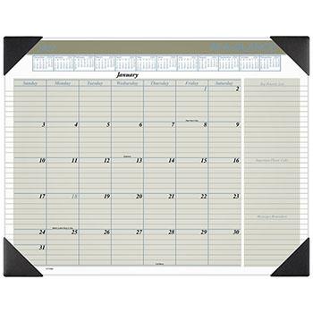"AT-A-GLANCE® Executive Monthly Desk Pad Calendar, 22"" x 17"", Buff, 2021"