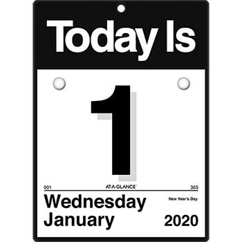 """AT-A-GLANCE® Today Is Wall Calendar, 6 5/8"""" x 9 1/8"""", White, 2021"""
