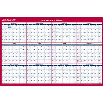 Vertical/Horizontal Wall Calendar, 24 x 36, 2020
