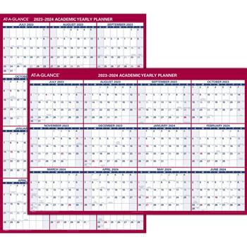 "AT-A-GLANCE® Vertical/Horizontal Academic Erasable Wall Calendar, 12 Months, July Start, Reversible, 32"" x 48"", 2021-2022"