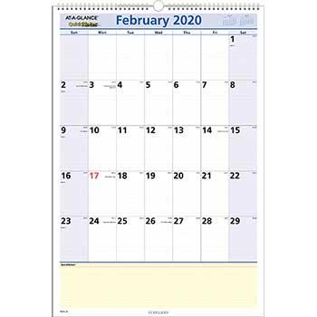 AT-A-GLANCE® QuickNotes Wall Calendar, 15 1/2 x 22 3/4, 2020