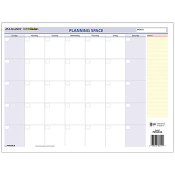 """AT-A-GLANCE® QuickNotes Mini Erasable Wall Planner, 16"""" x 12"""", 2021"""