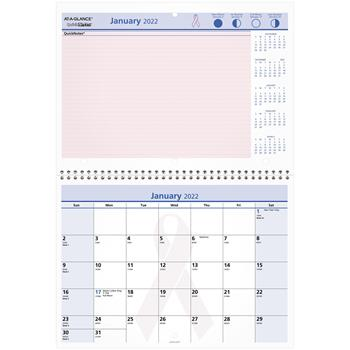 """AT-A-GLANCE® QuickNotes Special Edition Vertical Wall Calendar, 11"""" x 8"""", 2022"""