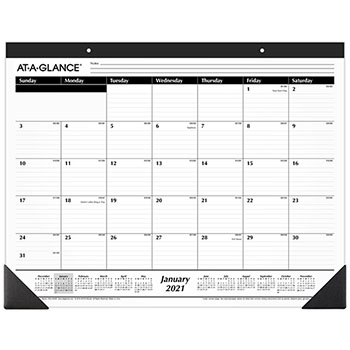 """AT-A-GLANCE® Ruled Desk Pad, 22"""" x 17"""", 2021"""