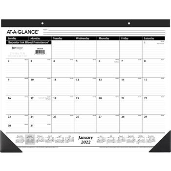 """AT-A-GLANCE® Ruled Desk Pad, 22"""" x 17"""", 2022"""