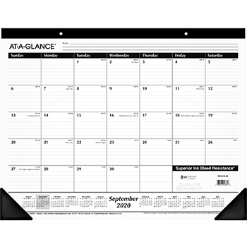 AT-A-GLANCE® Ruled Desk Pad, 22 x 17, 2021-2022