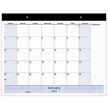 "AT-A-GLANCE® QuickNotes Desk Pad, 22"" x 17"", 2021"