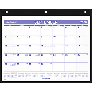 AT-A-GLANCE® Monthly Desk/Wall Calendar, 11 x 8-1/4, White, 2021-2022