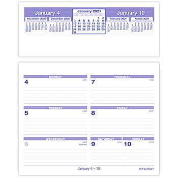"AT-A-GLANCE® Flip-A-Week Desk Calendar and Base, 5 5/8"" x 7"", White, 2021"