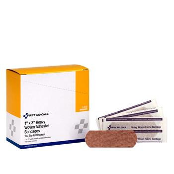"""First Aid Only™ Plastic Bandage, 3/8"""" x 1 1/2"""", 80/Box"""