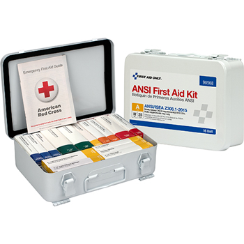 Unitized ANSI-Compliant First Aid Kit for 25 People, 84 Pieces