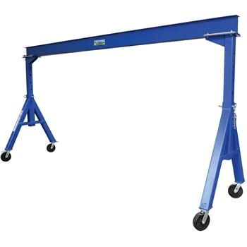 "Vestil Gantry Crane, Adjustable Height, Steel, 15"" x 14"", 4000 lb. Capacity"