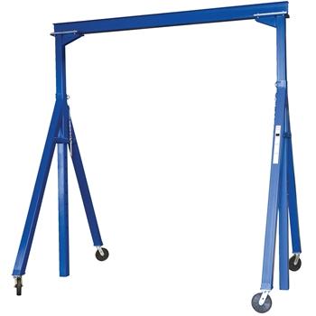 "Vestil Gantry Crane, Adjustable Height, Steel, 15"" x 14"", 6000 lb. Capacity"