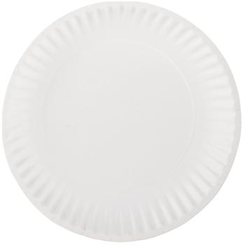"Chef's Supply White Paper Plates, 9"" Diameter, 100/PK"
