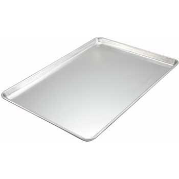 """Winco® 13"""" x 18"""" Aluminum Sheet Pan, Half Sized, Closed Bead, 16 Gauge"""