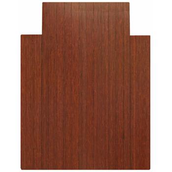 "Anji Mountain Bamboo Chair Mat, RollUp, 36"" x 48"", w/Lip, Dark Cherry"