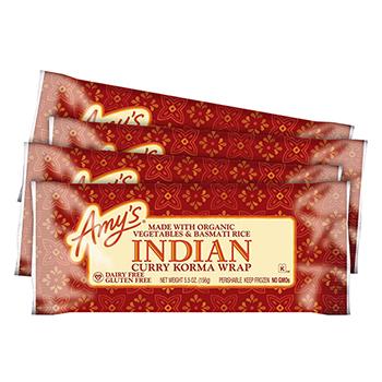 Indian Curry Korma Wrap, 5.5 oz, 4/PK