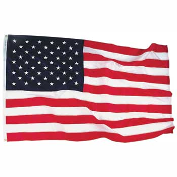 Annin Flags® Nyl-Glo® Premium Outdoor Nylon Flag, 5' x 8'