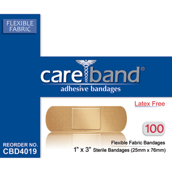 Flexible Fabric Adhesive Bandage, 100/BX
