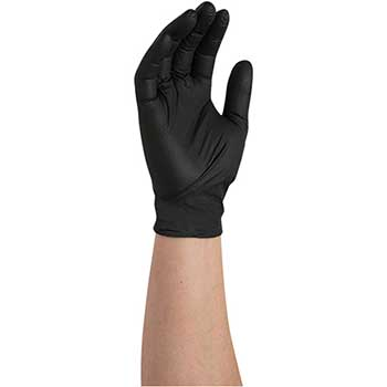 W.B. Mason Auto Supplies Nitrile Gloves, XXL, Powder Free, Black, 100/BX