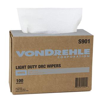 "Light Duty Shop Wipes, 9.38"" x 16.5"", White, 100 Sheets/BX, 9 Boxes/CS"