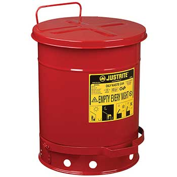 W.B. Mason Auto Supplies Oily Waste Can, 10 gallon