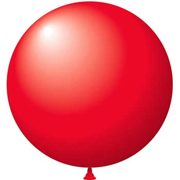 "Latex Balloons, 17"", Red, 72/BG"