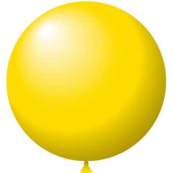 "W.B. Mason Auto Supplies Latex Balloons, 24"", Yellow, 25/BG"