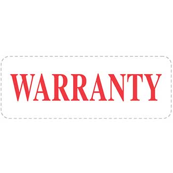 "Self Inking Stamp, Warranty, Red Ink, 7/8"" x 2 3/8"""