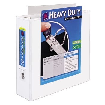 """Avery® Extra-Wide Heavy-Duty View Binder, 3"""" One-Touch Rings, 670-Sheet Capacity,  White"""