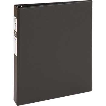 "Economy Binder, 1"" Round Rings, 175-Sheet Capacity, Black"