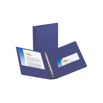 "Avery® Economy Binder, 1 1/2"" Round Rings, 275-Sheet Capacity, Blue"