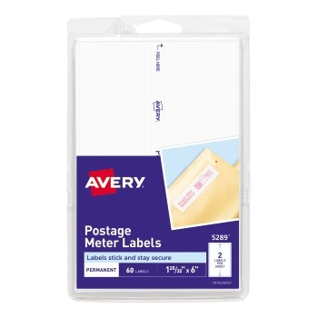 """Avery® Postage Meter Labels for Personal Post Office®, 1 25/32"""" x 6"""", 60/PK"""