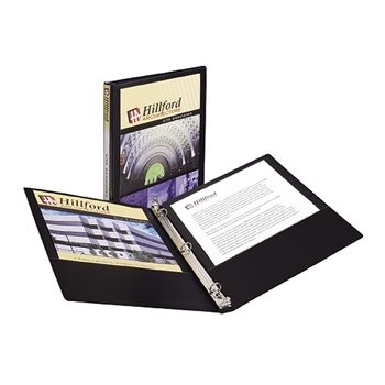 "Economy View Binder, 1/2"" Round Rings, 100-Sheet Capacity, Black"