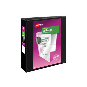 """Durable View Binder, 2"""" EZD Rings, 540-Sheet Capacity, DuraHinge®, Black"""
