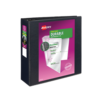 """Durable View Binder, 4"""" EZD Rings, 780-Sheet Capacity, DuraHinge®, Black"""