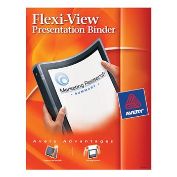 """Flexi-View® Binder, 1/2"""" Round Rings, 100-Sheet Capacity, Black"""