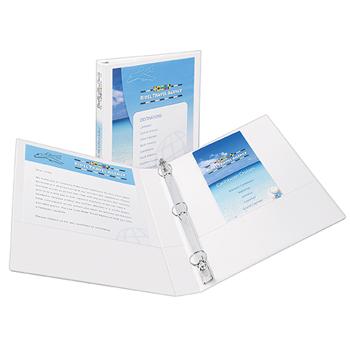 """Avery® Showcase Economy View Binder, 1"""" Round Rings, 175-Sheet Capacity, White"""